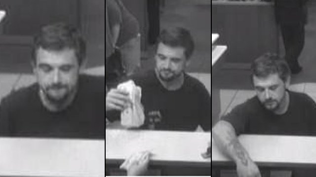 Surveillance photos from the E. Greenville Street Wells Fargo Bank. (Anderson Police Dept.)