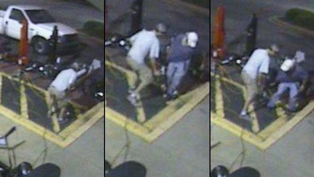 Surveillance photos from the Tractor Supply store on E. Main St. in Spartanburg. (Spartanburg Public Safety Dept.)