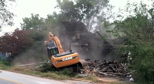 The demolished home along Jackson St. in Anderson. (Oct. 8, 2012/Anderson Co. Council)