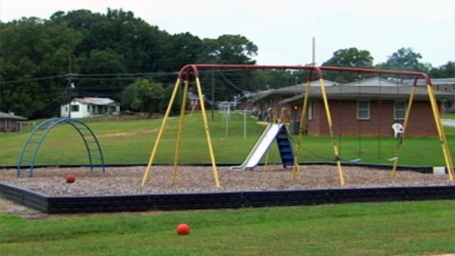 The playground where Union police say the 12-year-old lured the two brothers from. (Oct. 9, 2012/FOX Carolina)