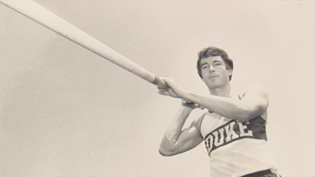 Mike McGinnis was a pole vaulter at Duke. (Courtesy Meredith McGinnis)