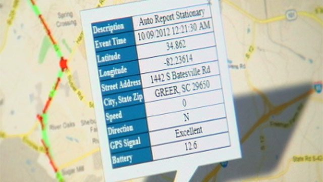 Clint Bright tracks a GroundsMaster vehicle online. (Oct. 10, 2012/FOX Carolina)