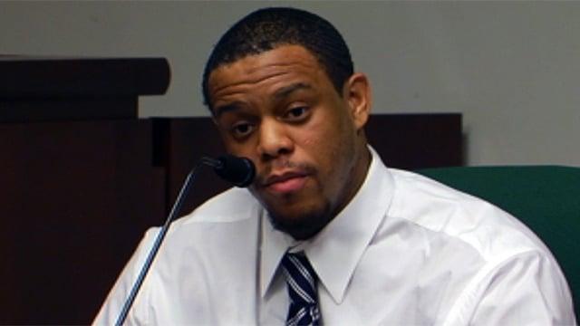 Patrick Lowrance testifies in court. (Oct. 10, 2012/FOX Carolina)