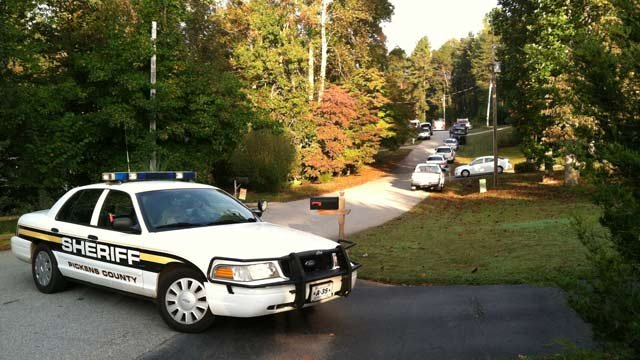 Deputies and troopers have Fernwood Drive blocked off because of the crash. (Oct. 12, 2012/FOX Carolina)