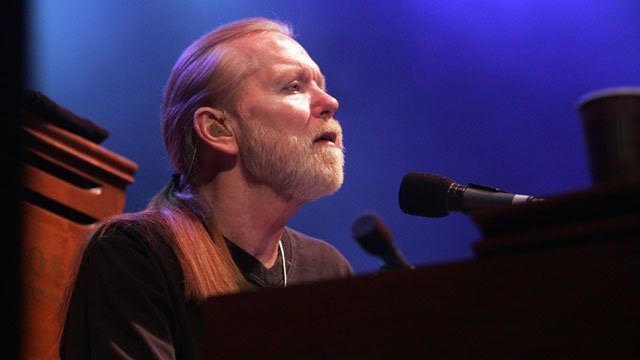 In this photograph taken by AP Images for TuneInToHepC.com, Rock Legend Gregg Allman and the Allman Brothers Band perform at the Orpheum Theatre in Boston. (Aynsley Floyd/AP Images for TuneInToHepC.com)