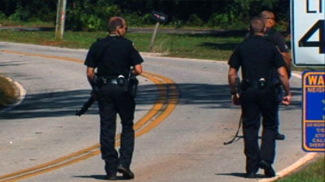 Deputies were out searching with a K-9 officer after the burglary subjects fled. (Oct. 15, 2012/FOX Carolina)