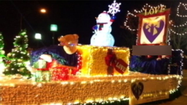 What the float looked like before it was stripped of its decorations and stolen. (Courtesy Defenders For Children)