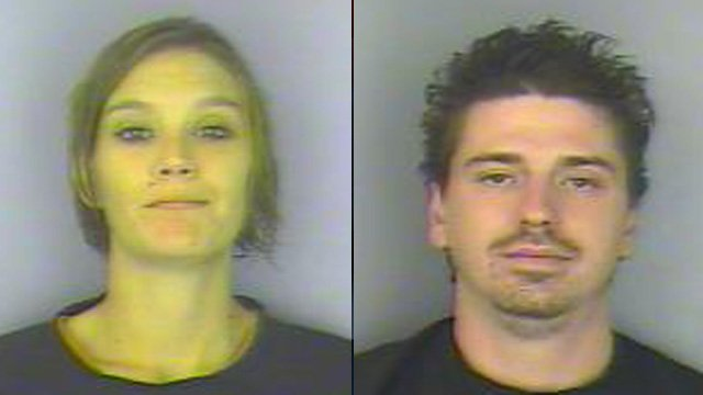 Kayla Beggs (left) and Dustin Young. (Greenwood Co. Sheriff's Office)