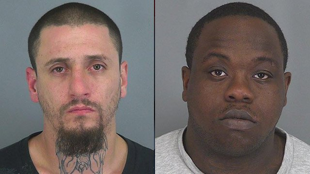Joseph Garza (left) and Carlos Smith. (Spartanburg Co. Sheriff's Office)