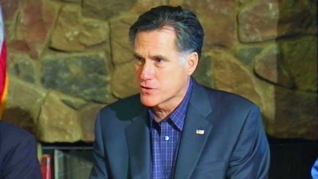 Republican presidential candidate Mitt Romney speaks to voters at a rally in Simpsonville. (File/FOX Carolina)
