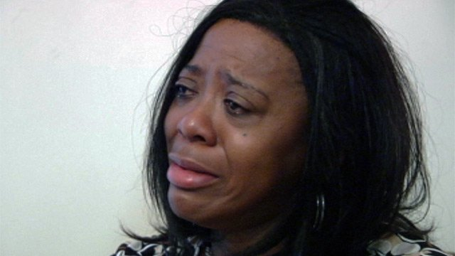 A tearful Shirley Rogers talks with FOX Carolina about working for the Wells and her arrest. (Oct. 10, 2012/FOX Carolina)