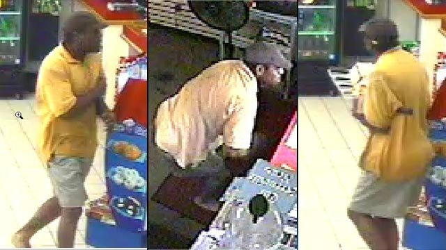 Surveillance photos from the Citgo on Wade Hampton Blvd. (Greenville Police Dept.)