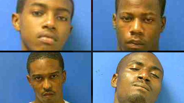 Demond Guyton (top-left), Lee Tate Jr. (top-right), Shawmund Wray (bottom-left) and Tyrus Davidson (Cherokee Co. Detention Center)