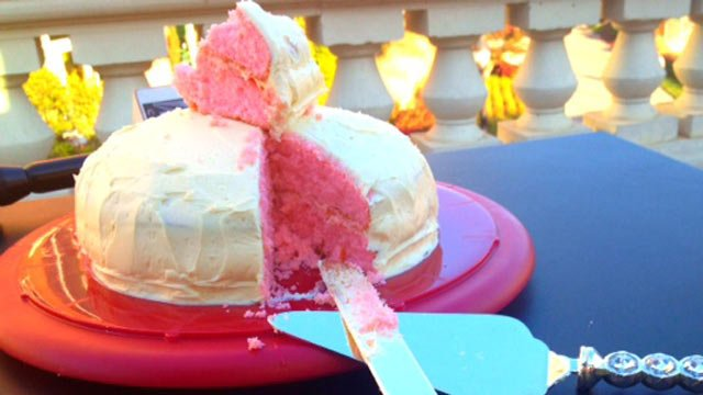 The cake after the Gagnons cut into it. (Oct. 25, 2012/FOX Carolina)