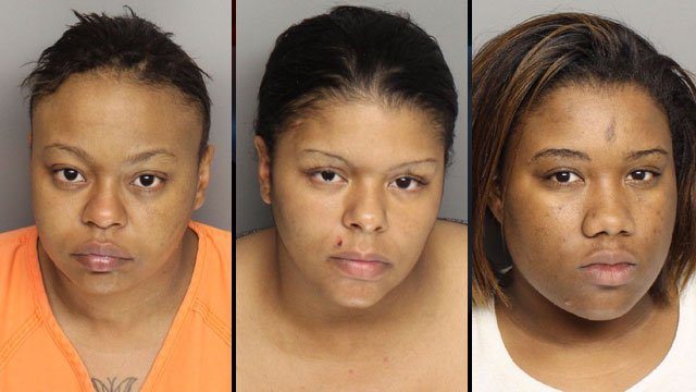 Tamela Dyer (left), April Knowles (center) and Keyona Wakefield. (Greenville Police Dept.)