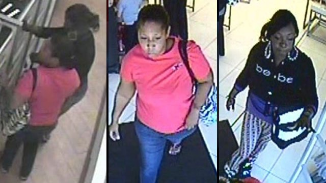Greenville police say these women stole about $5,000 in perfume and cologne from a store. (Greenville Police Dept.)