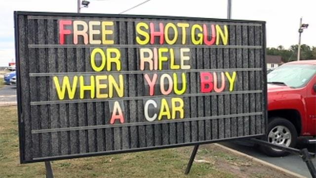 sc car dealership offers free gun with car purchase fox carolina 21. Black Bedroom Furniture Sets. Home Design Ideas