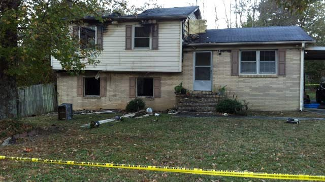 The Fourth Day Street home damaged by fire Thursday morning. (Nov. 1, 2012/FOX Carolina)