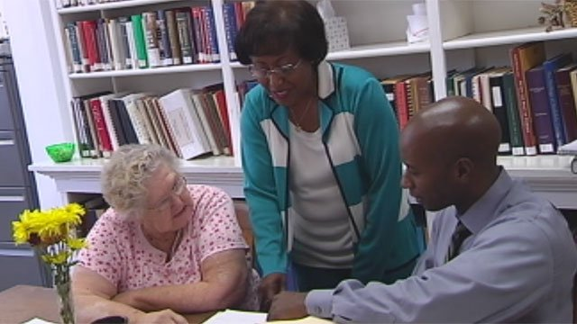 FOX Carolina's Will Jones meets with Dr. Connie Timmerman-McNeill (left) and Bernice Bennett in Edgefield. (File/FOX Carolina)