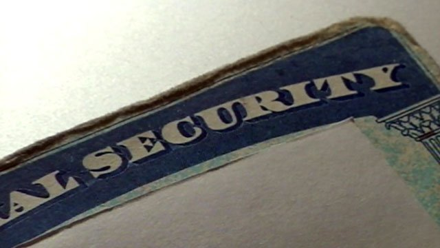 A Social Security card is displayed on a table. (File/FOX Carolina)