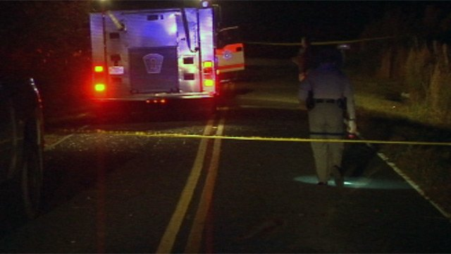 Troopers investigate a fatal crash along Jug Factory Road in Greenville Co. (Nov. 5, 2012/FOX Carolina)