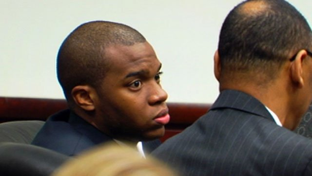 Korey Love listens to testimony at his trial. (Nov. 5, 2012/FOX Carolina)
