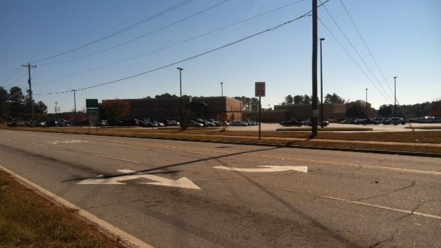 Northside Drive runs in front of Greenwood High School. (Nov. 8, 2012/FOX Carolina)