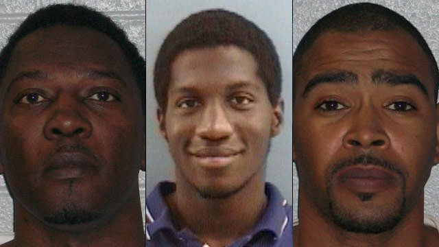 From left to right: Daniel Allen, Cory Cook and Billy Garrett. (Henderson Co. Sheriff's Office)