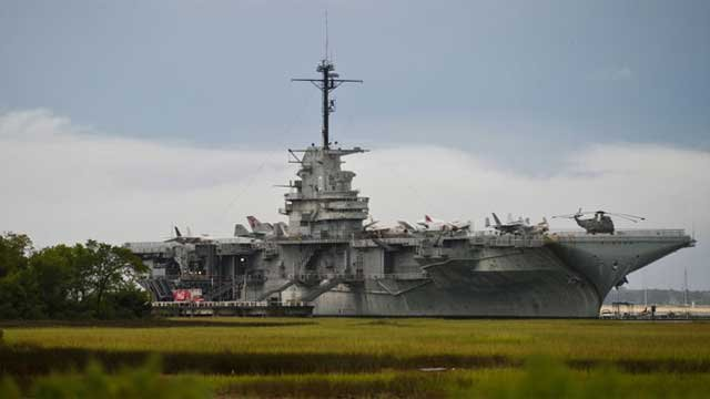 The USS Yorktown is parked in Charleston Harbor. (Patriotspoint.org)