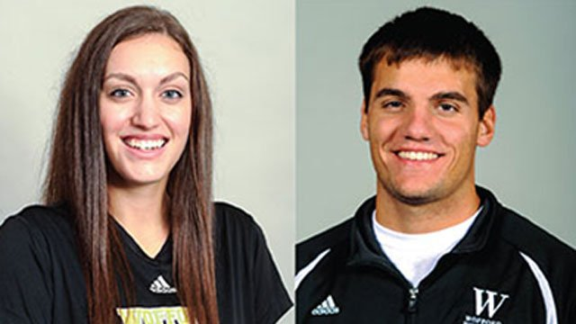 Rachel Woodlee (left) and Brian McCracken. (Wofford College)