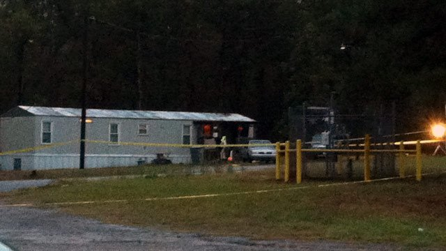 The Skyland Drive home where deputies say one person was killed and several were injured in a standoff. (Oct. 15, 2012/FOX Carolina)