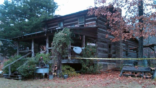 The fire-damaged home on Blackjack Road. (Nov. 13, 2012/Oconee Co. Emergency Services)