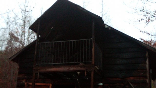 A second structure on the property was also damaged by fire. (Nov. 13, 2012/Oconee Co. Emergency Services)