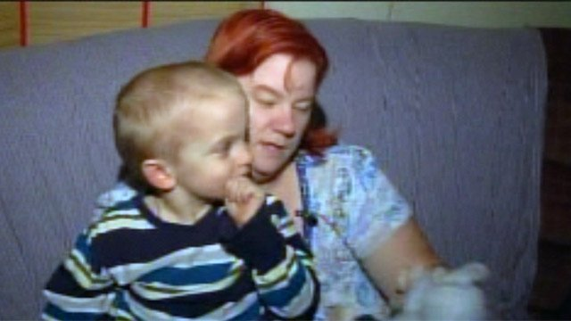 Crystal Nash with her son Aric. (Nov. 14, 2012/FOX Carolina)