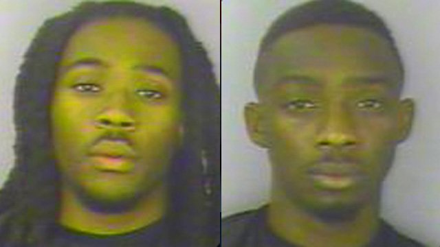 Matthew Ligon (left) and Dwayne Sanders. (Greenwood Police Dept.)