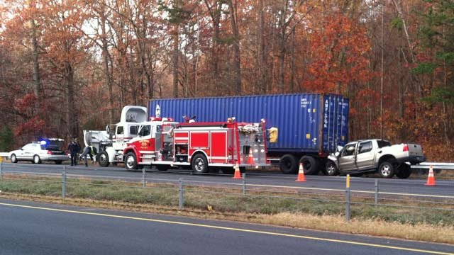 Troopers and emergency crews had one lane eastbound I-26 blocked because of the fatal wreck. (Nov. 16, 2012/FOX Carolina)
