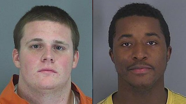 Desmond Stevenson and Zachery Hull (left). (Spartanburg Co. Detention Center)