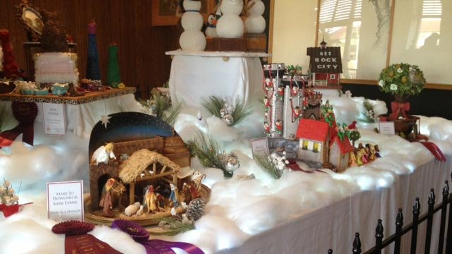 Some of the gingerbread houses and creations on display. (Nov. 19, 2012/FOX Carolina)