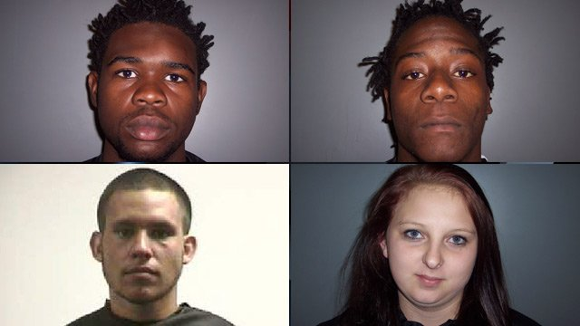 From top-left to bottom-right: Shake Curry, Marqual Griffin, Eli Torrence and Maleta Waters. (Laurens and Pickens Co. Detention Centers)