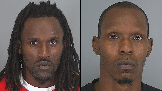 Justin Dawkins (left) and Emmanuel Hutchinson. (Spartanburg Co. Sheriff's Office)