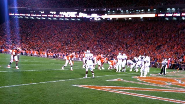 Clemson nears the end zone during the first quarter of the game. (Nov. 24, 2012/FOX Carolina)