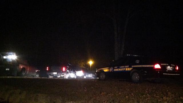 Laurens County deputies respond to brush fire where body was discovered. (Nov. 24, 2012/FOX Carolina)