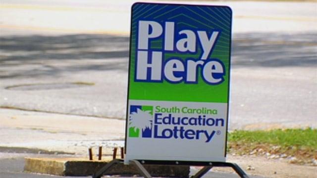 A South Carolina Education Lottery sign. (File/FOX Carolina)