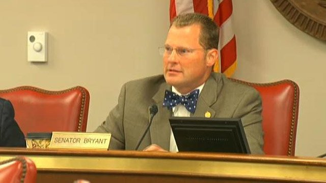 SC Sen. Kevin Bryant begins the hearing in Columbia. (Nov. 28, 2012/FOX Carolina)