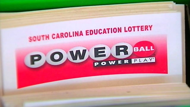A stack of Powerball tickets is displayed at a Greenville store. (File/FOX Carolina)