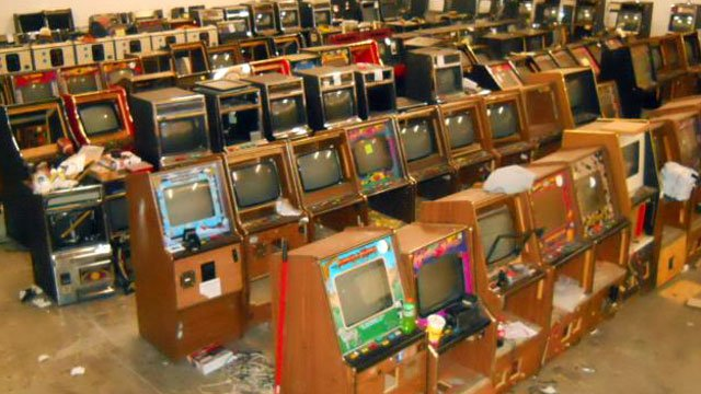 Deputies said these gaming machines were seized from a warehouse in Spartanburg County. (Nov. 14, 2012/Spartanburg Co. Sheriff's Office)