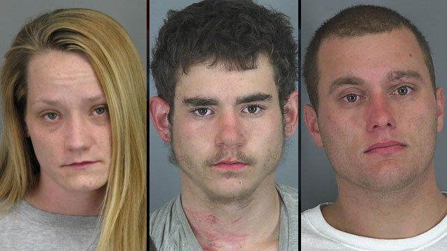 From left to right: Casey Sandlin, William White and Woodrow Byars. (Spartanburg Co. Sheriff's Office)
