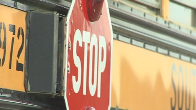 The stop sign on the side of a South Carolina school bus. (File/FOX Carolina)
