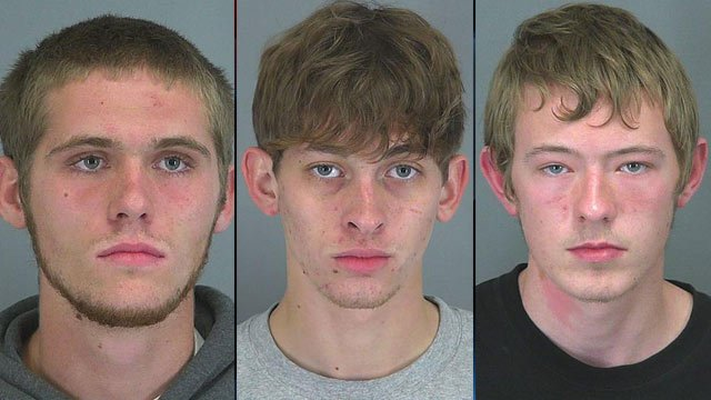From left to right: Andrew Bowyer, Jamin Carithers and Robert Williams. (Spartanburg Co. Sheriff's Office)