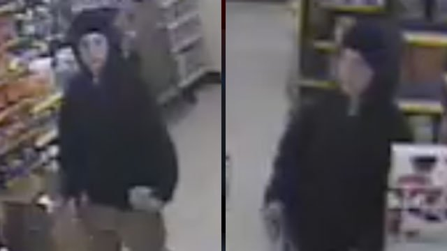 Police say these surveillance video images were taken during a robbery at a Dollar General. (Dec. 1, 2012/Greer Police Dept.)